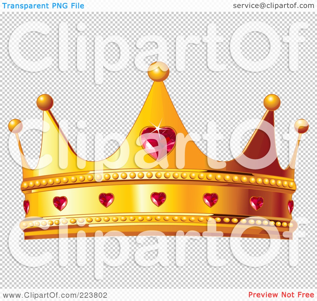 Dog in crown clipart png vector library stock Royalty-Free (RF) Clipart Illustration of a Golden Queen Crown ... vector library stock