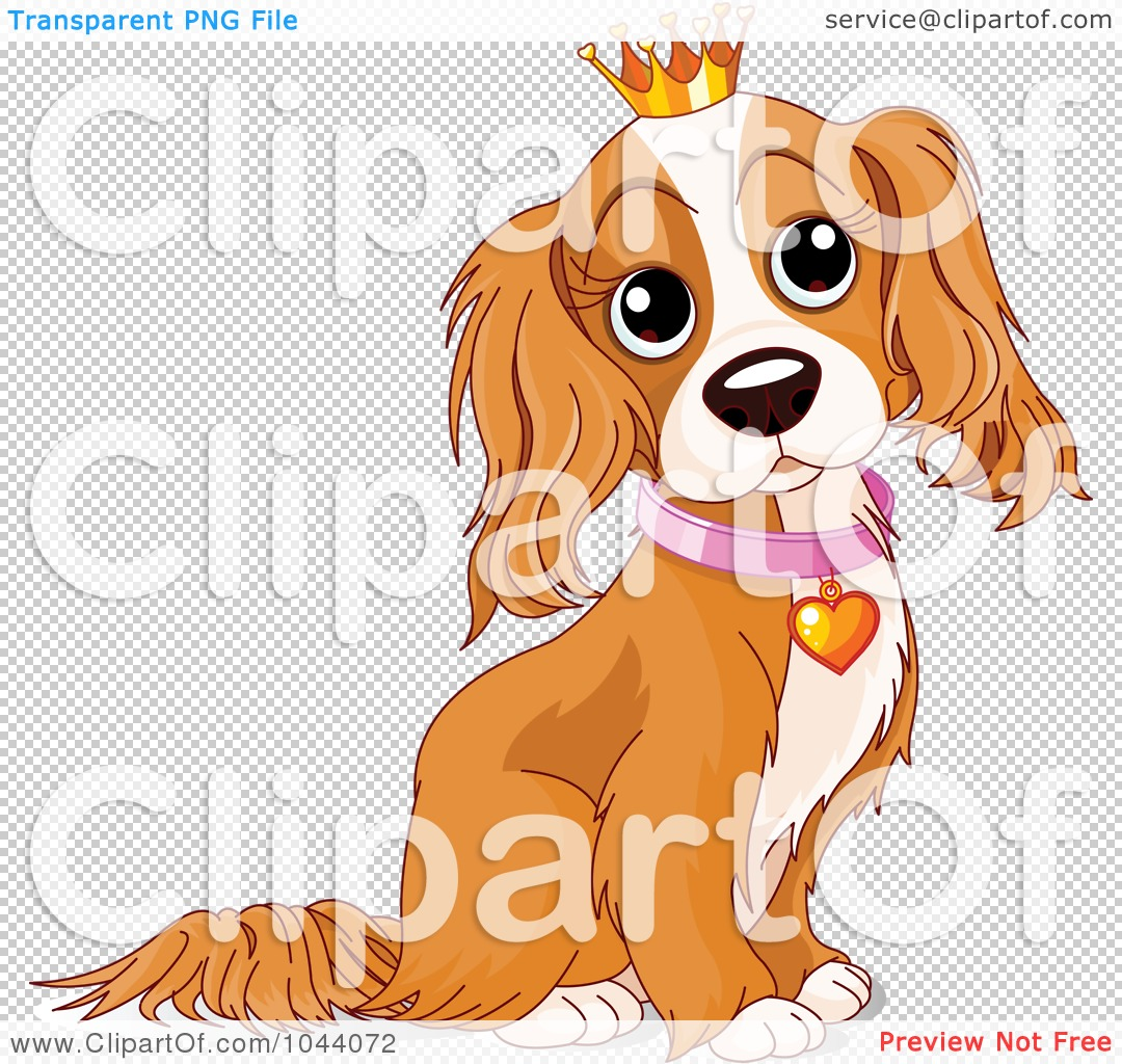 Dog in crown clipart png graphic freeuse Royalty-Free (RF) Clip Art Illustration of a Spoiled Cocker ... graphic freeuse