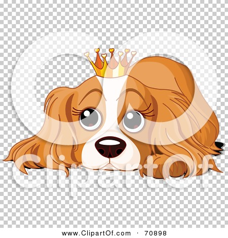 Dog in crown clipart png banner freeuse Royalty-Free (RF) Clipart Illustration of a Spoiled Cocker Spaniel ... banner freeuse