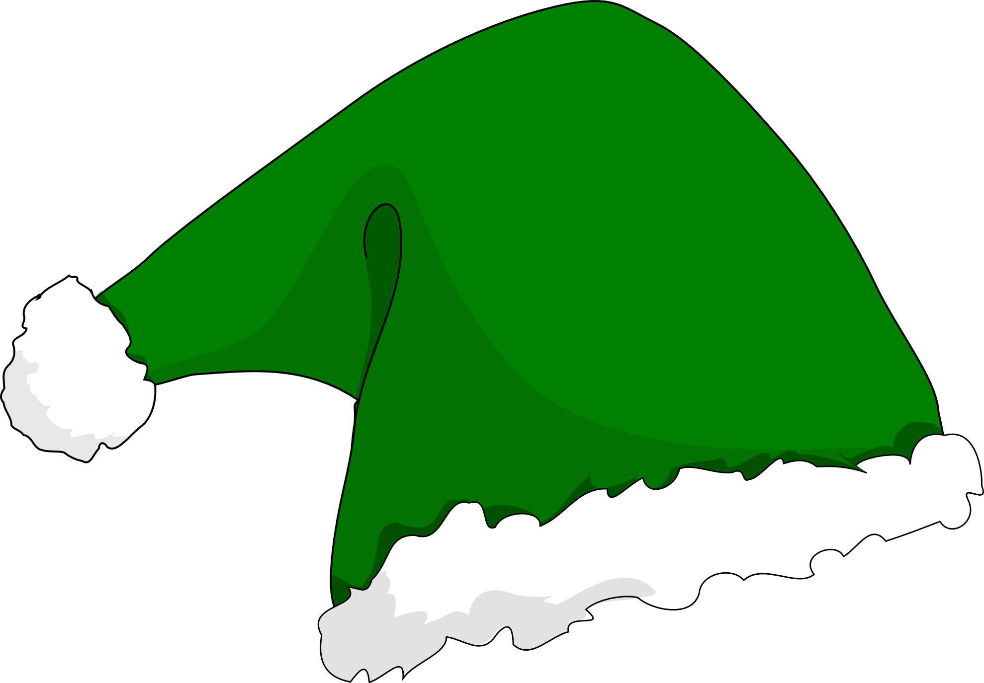 Dog in santa hat clipart jpg royalty free download 28+ Collection of Green Santa Hat Clipart | High quality, free ... jpg royalty free download