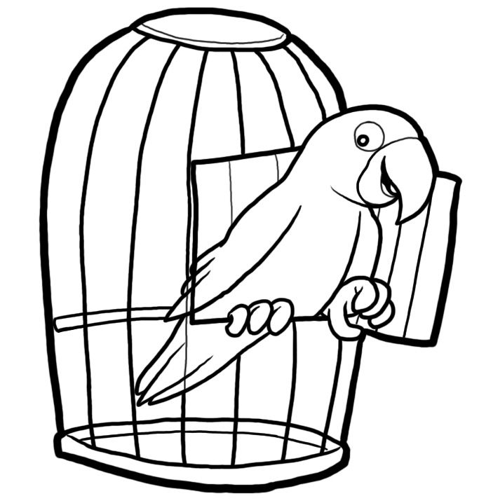 Dog inside crate clipart cartoon black and white vector library library Image result for bird perch black and white illustration | Projects ... vector library library