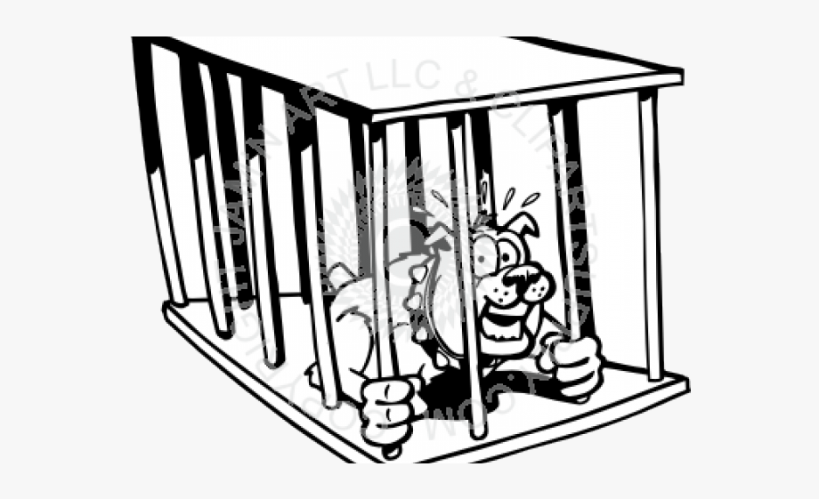 Dog inside crate clipart cartoon black and white image black and white Cage Clipart Hawla Free On Dumielauxepices Net - Dog In Cage Cartoon ... image black and white