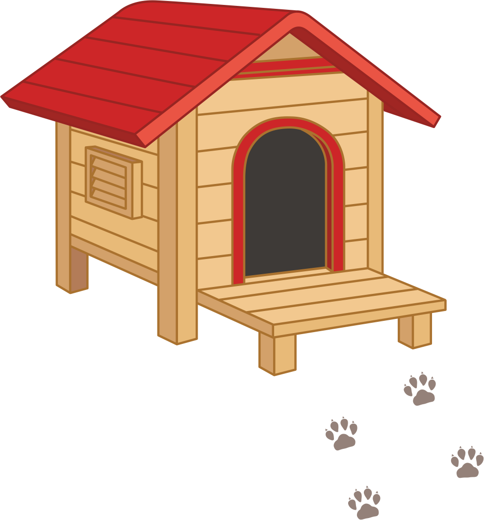 Dog kennel clipart vector freeuse Dog Houses Clip art - Dog 987*1060 transprent Png Free Download ... vector freeuse