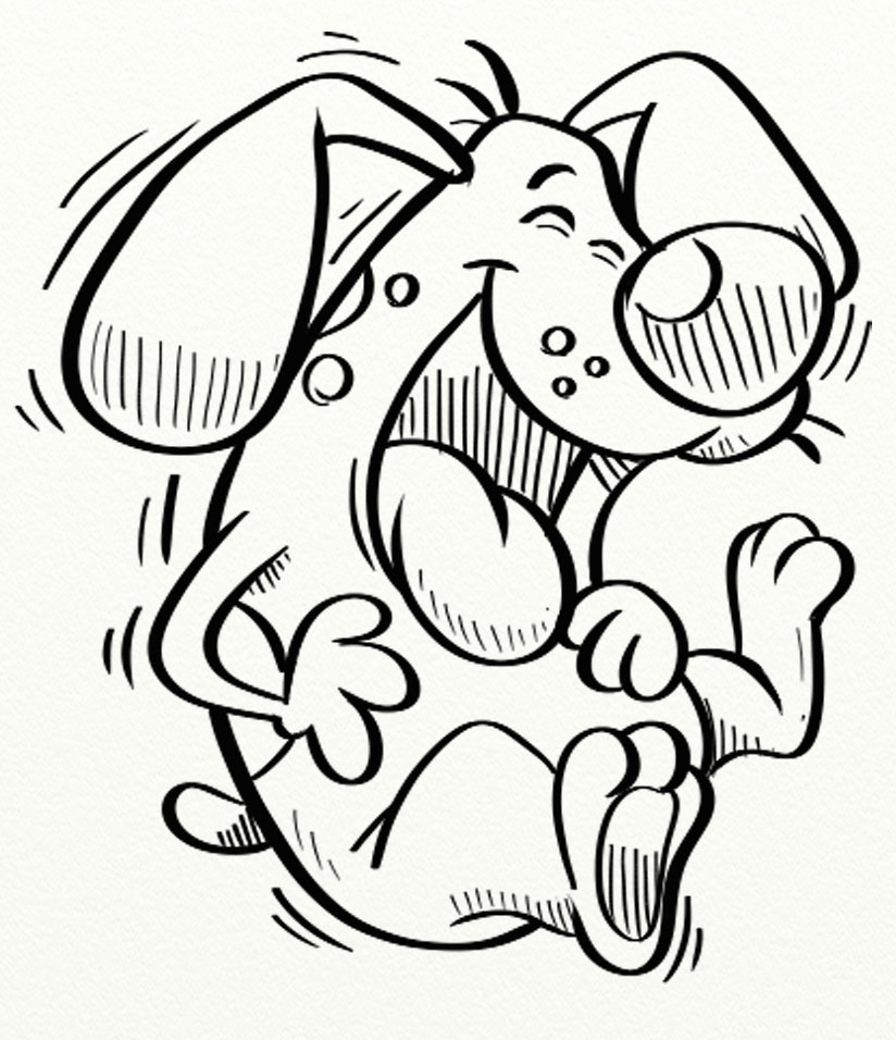 Dog laughing clipart clipart library library Black and white clipart dog laughing - ClipartFest clipart library library