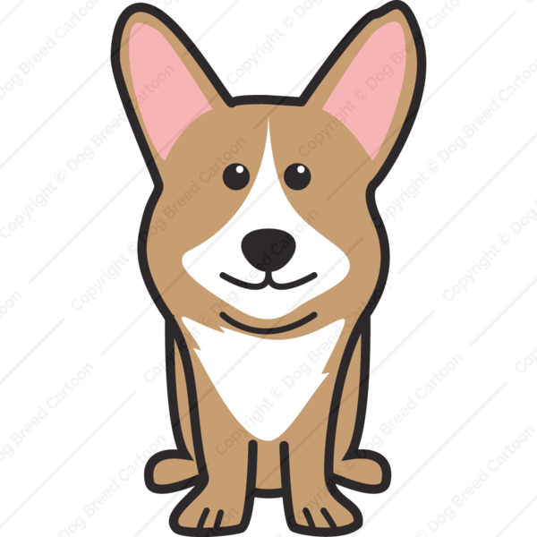 Dog looking up clipart svg free stock Cardigan Welsh Corgi | Special Edition | Dog Breed Cartoon ... svg free stock