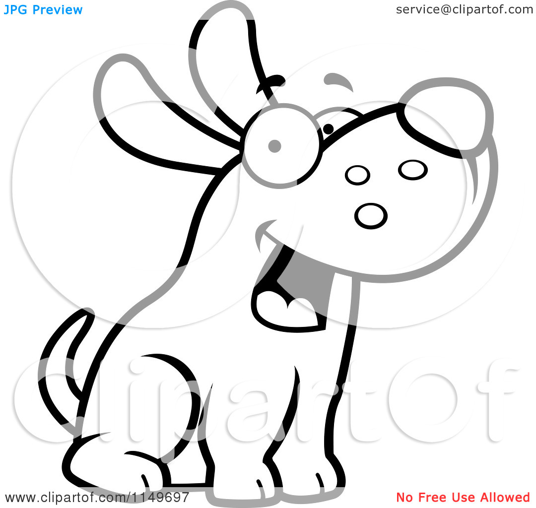 Dog max clipart jpg transparent Cartoon Clipart Of A Black And White Friendly Max Dog Character ... jpg transparent