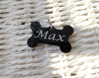 Dog name plate max clipart banner transparent library Pet Id Tags – Etsy UK banner transparent library