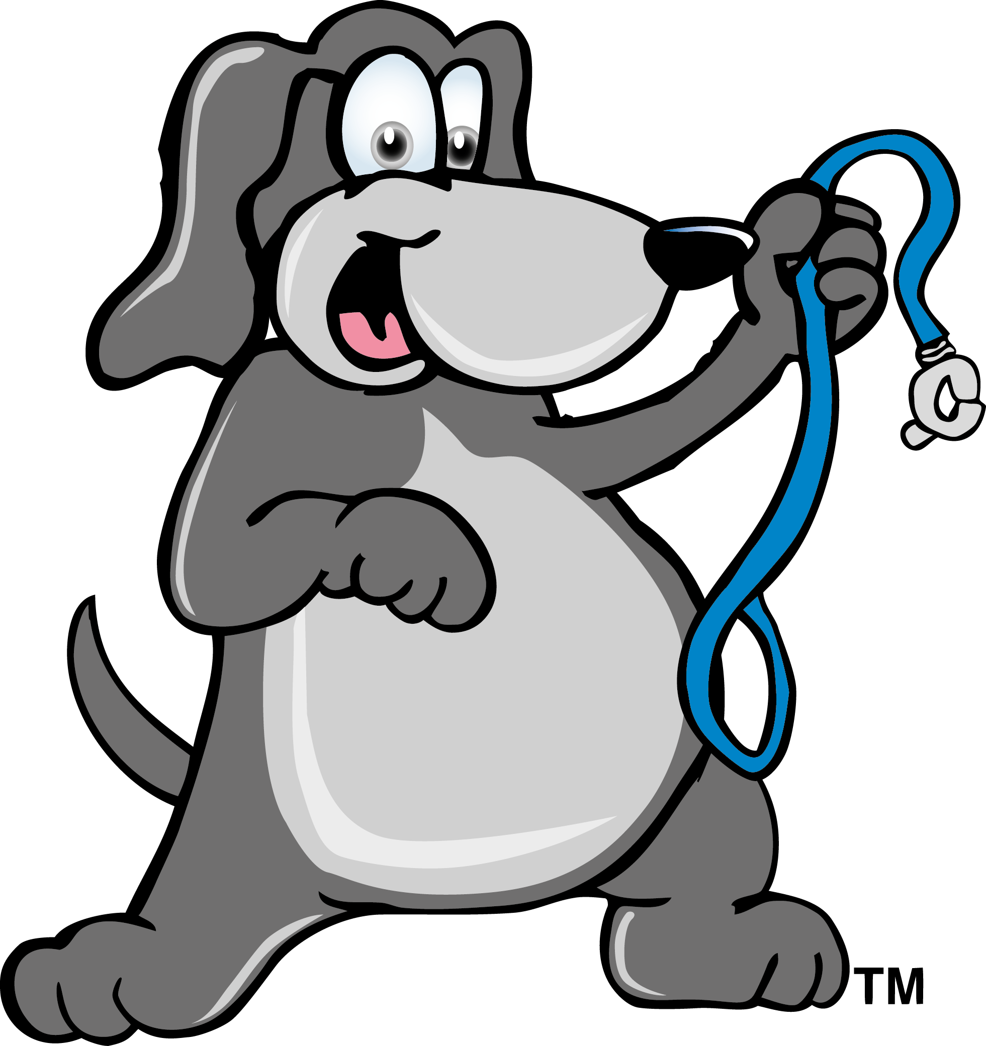 Dog with leash clipart jpg black and white library Fat dog with a leash - Haven Lake Animal Hospital | Haven Lake ... jpg black and white library