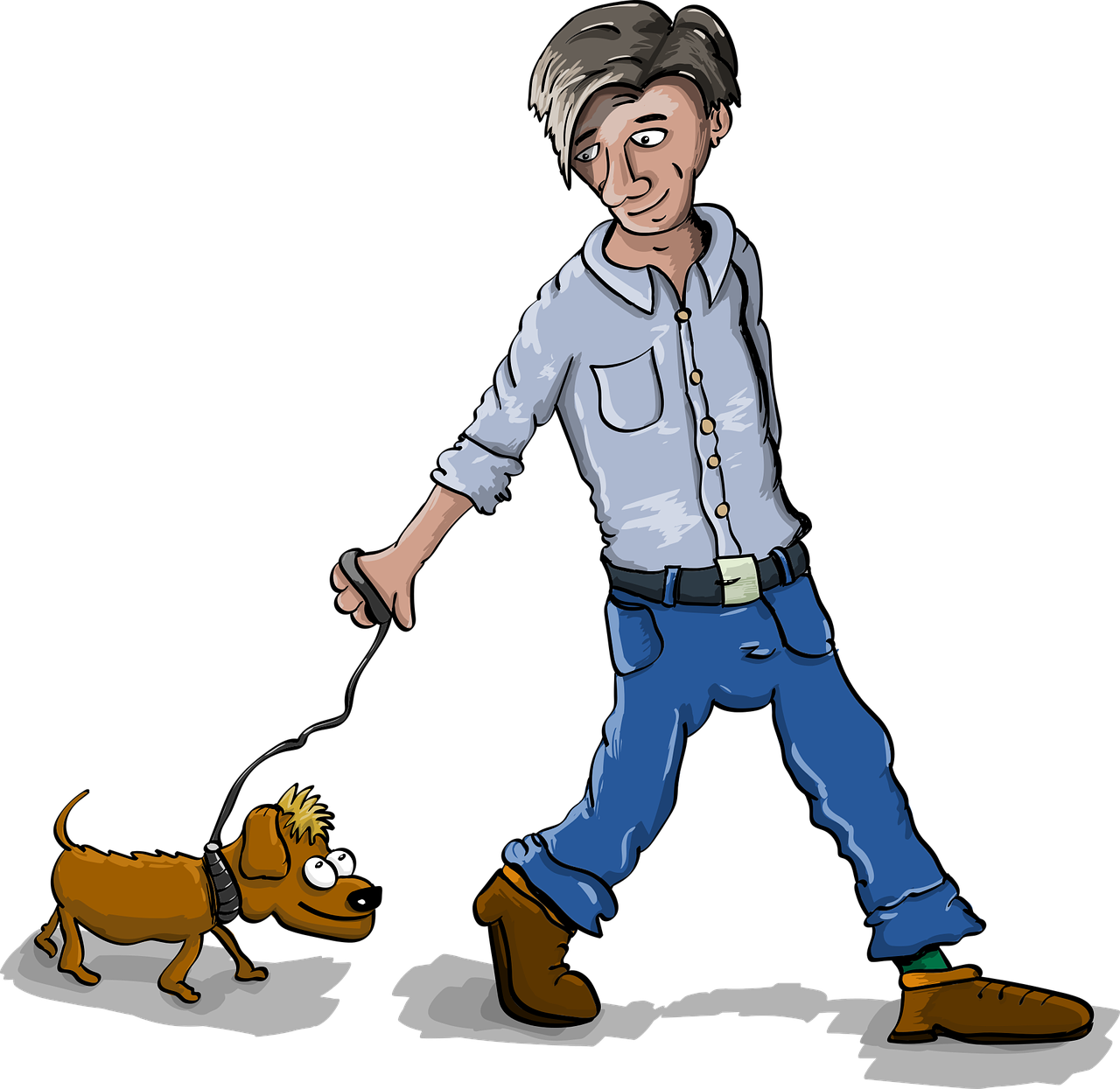 Dog with leash clipart graphic free download How To Train Your Dog Not To Pull On His/Her Leash When Walking graphic free download