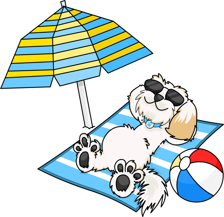 Dog on beach clipart graphic Forum - Sunday Hunt - July 2, 2017 / Uniteddogs graphic