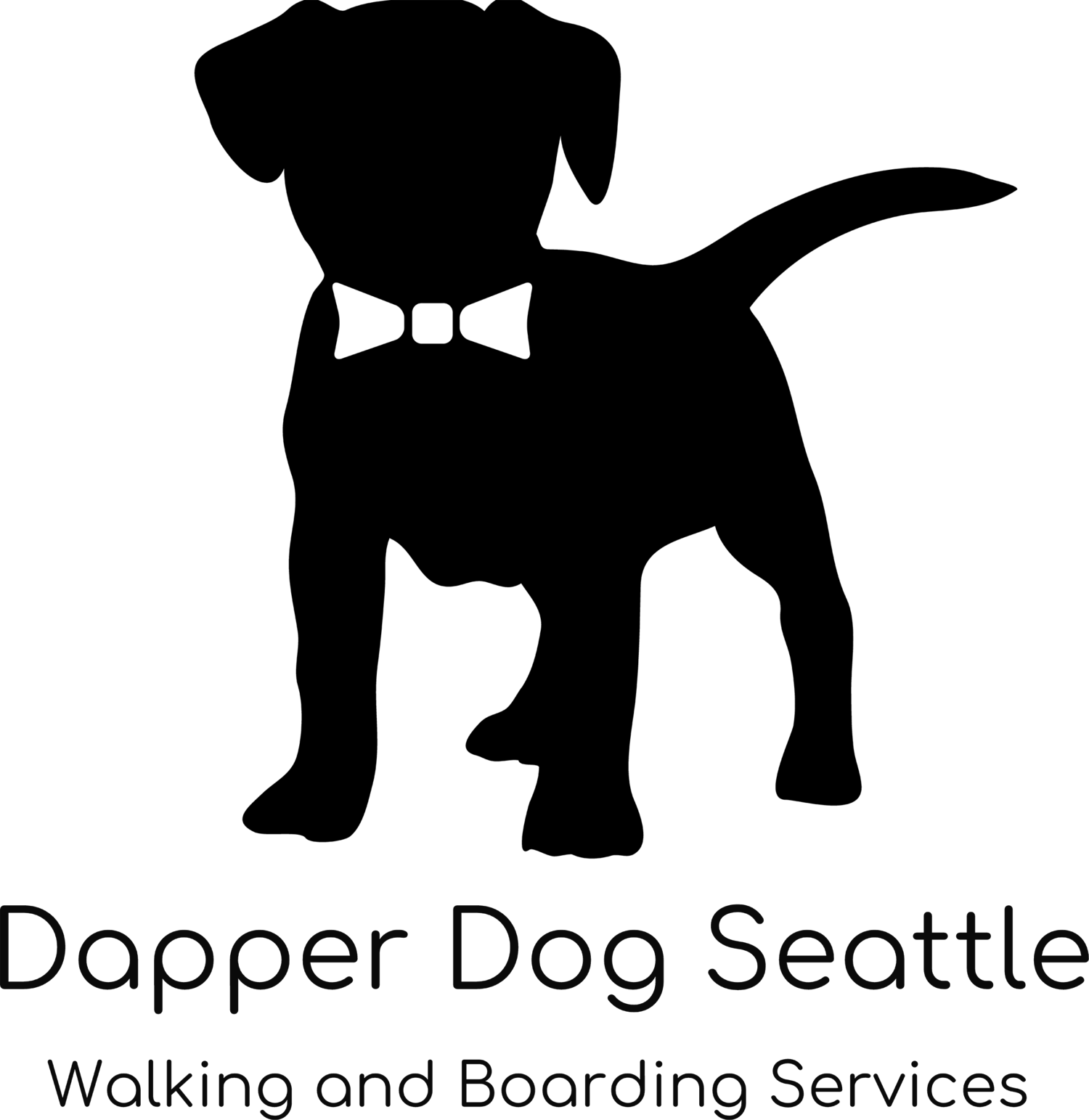 Dog on leash clipart clip transparent library Dapper Dog Seattle clip transparent library