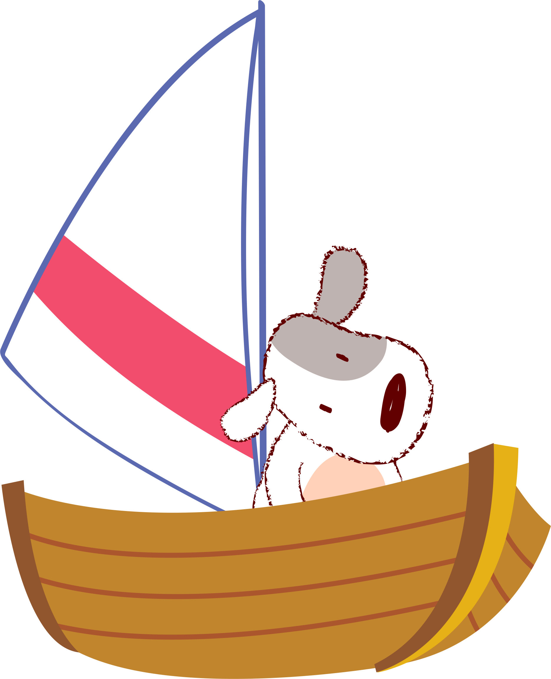 Dog on sailboat clipart clip art free download Dog Puppy Boat Clip art - Dog 1870*2304 transprent Png Free Download ... clip art free download