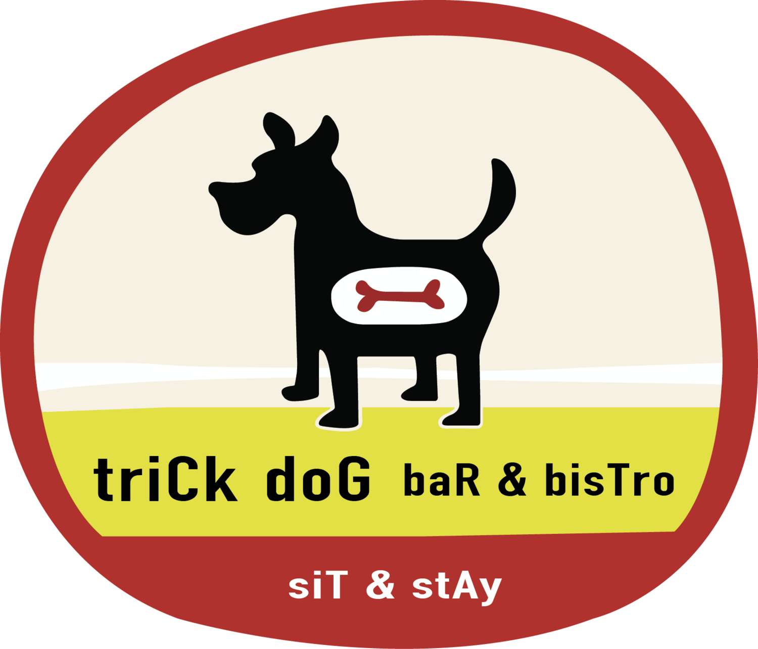 Trick bar bistro. Dog on sailboat clipart