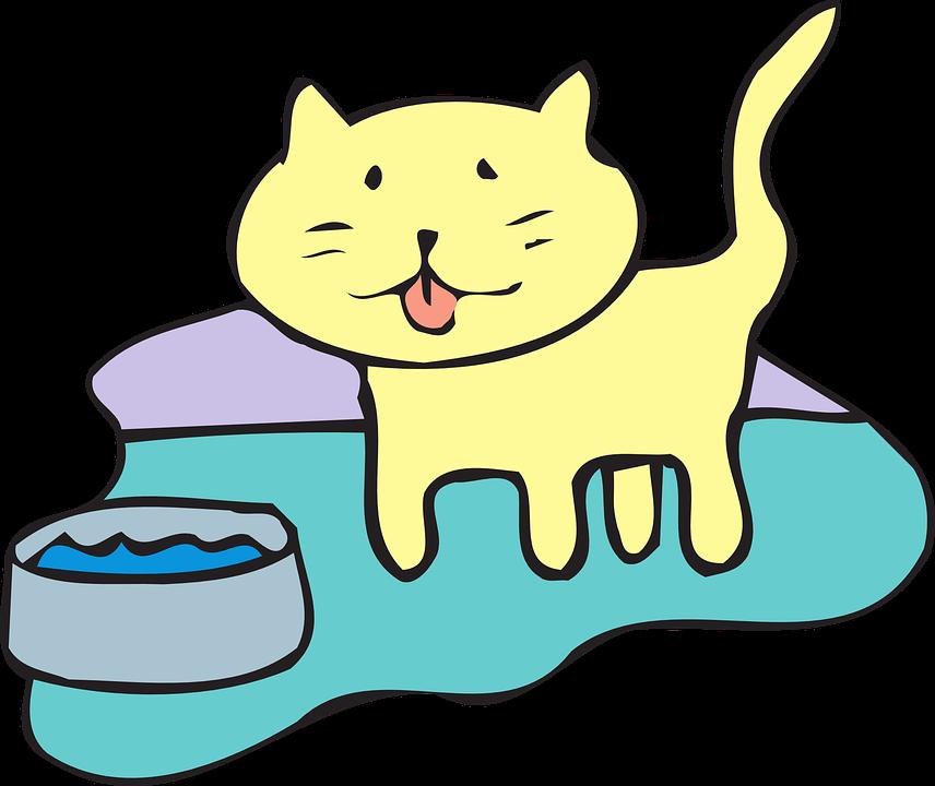 Sick cat clipart svg freeuse stock Dog Drinking Water Clipart – paberish.me svg freeuse stock