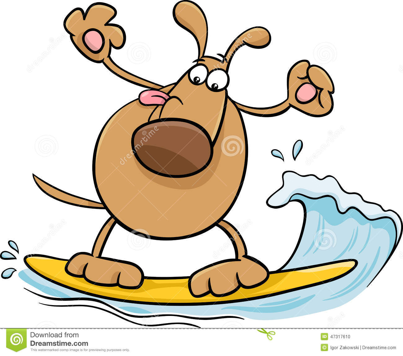 Dog on surfboard clipart jpg free library Dog Surfboard Stock Illustrations – 37 Dog Surfboard Stock ... jpg free library
