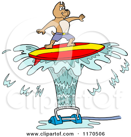 Dog on surfboard clipart clip art library library Royalty-Free (RF) Surfing Dog Clipart, Illustrations, Vector ... clip art library library