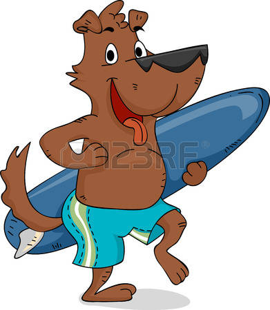 Dog on surfboard clipart clipart freeuse stock 139 Surfing Dog Stock Vector Illustration And Royalty Free Surfing ... clipart freeuse stock
