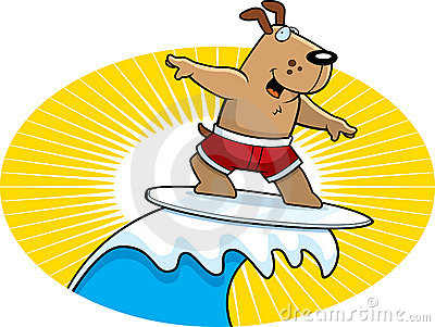 Dog on surfboard clipart clip art royalty free Surfing Dog Stock Illustrations – 73 Surfing Dog Stock ... clip art royalty free