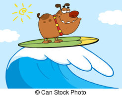 Dog on surfboard clipart jpg transparent stock Surfing Illustrations and Clipart. 27,879 Surfing royalty free ... jpg transparent stock