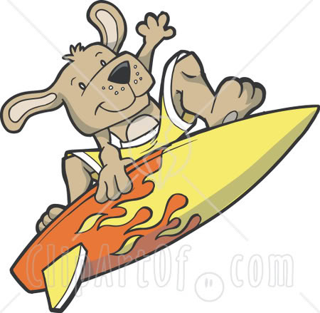 Dog on surfboard clipart graphic royalty free library Dog Surfing Clipart graphic royalty free library