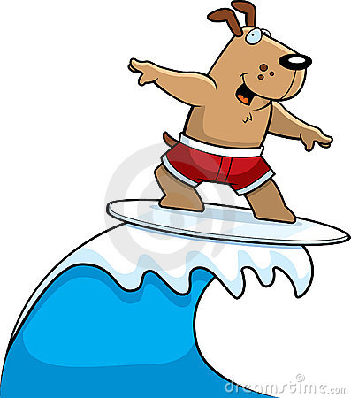Dog on surfboard clipart banner free library Surfing Dog Stock Photos, Images, & Pictures - 471 Images banner free library