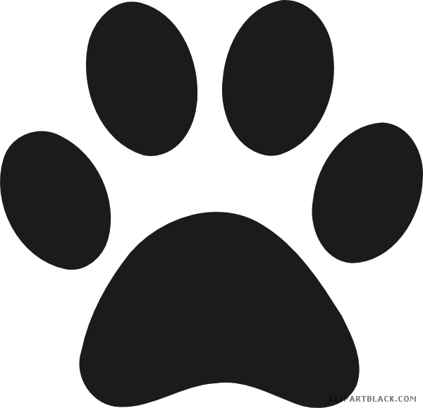 Dog paw black and white clipart picture transparent download Dog Paw Prints Clipart - ClipartBlack.com picture transparent download