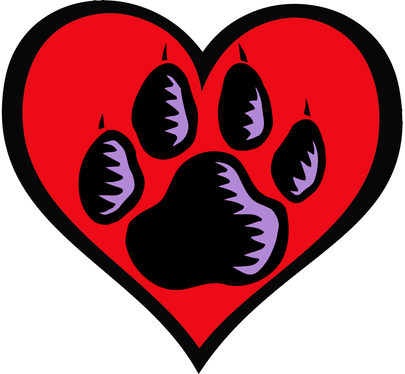 Dog paw heart clipart black and white library Business Partners Program - Friends of the Animal Shelter black and white library