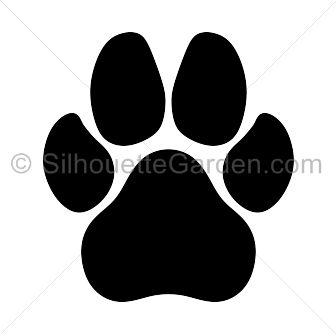 Dog paw jpg clipart.  must see print