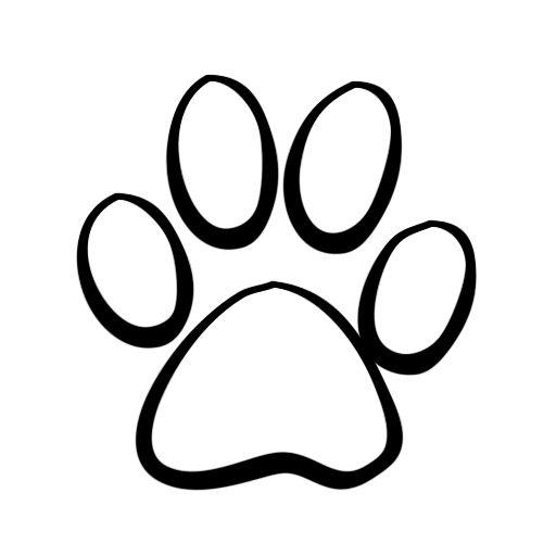 Dog paw jpg clipart. Print clip art images