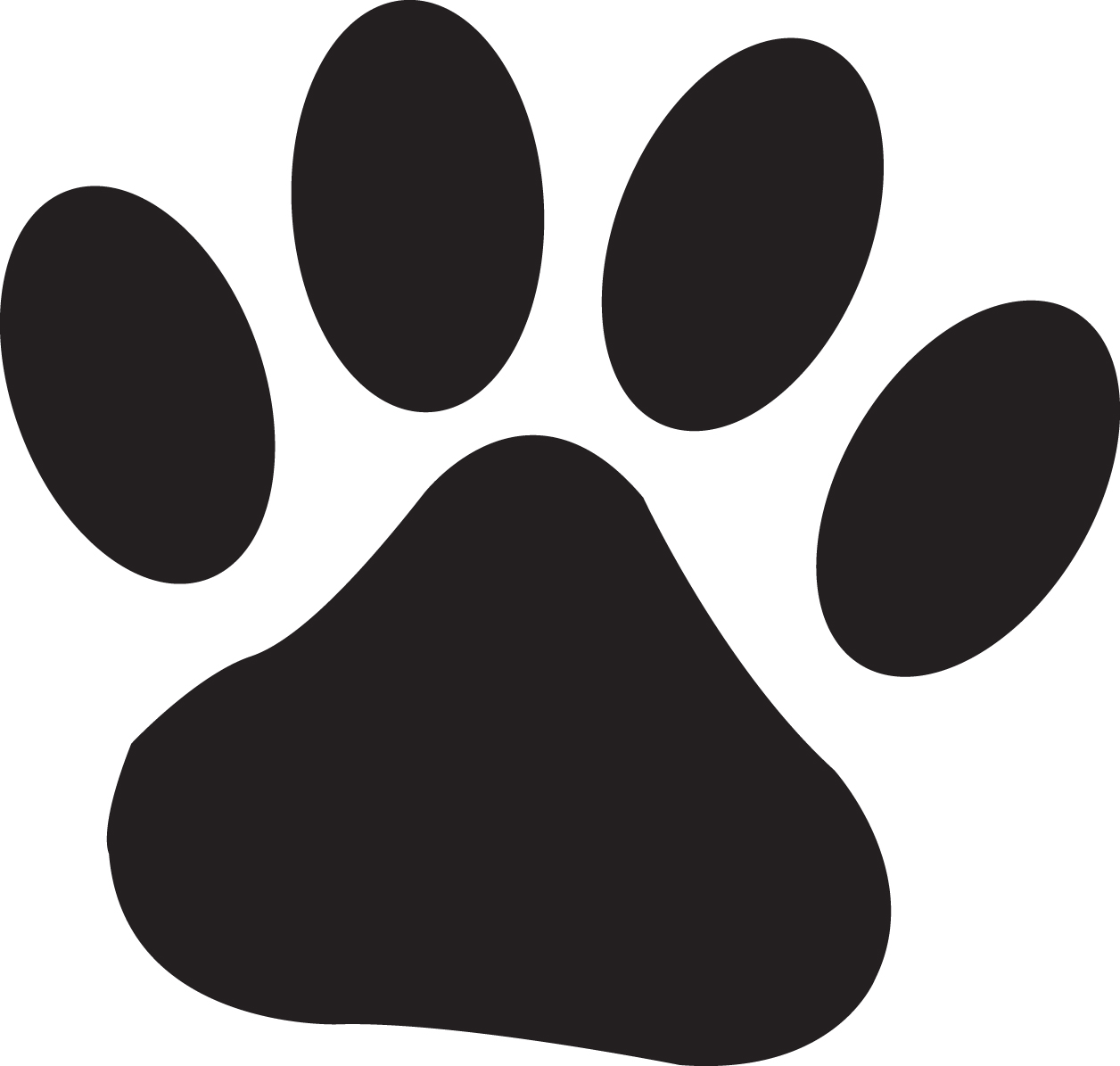 Clipartfest cat prints clip. Dog paw jpg clipart