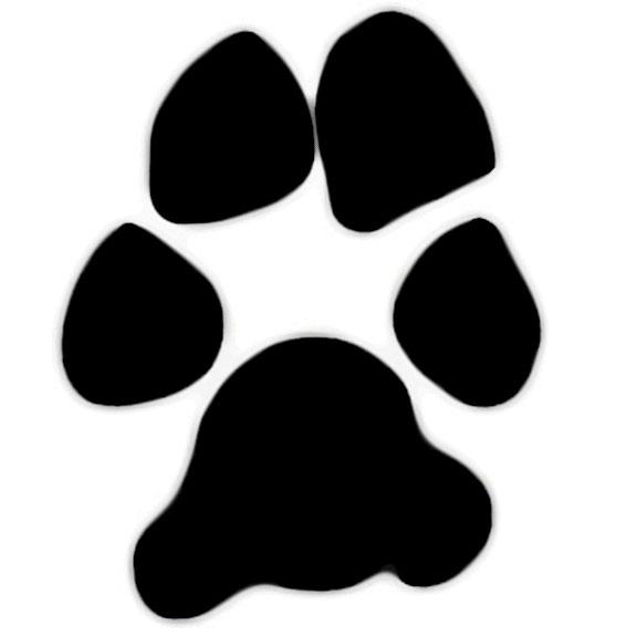 Dog paw jpg clipart. Print clip art free