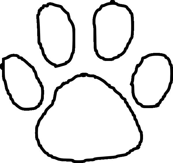 Tiger print clip art. Dog paw outline clipart