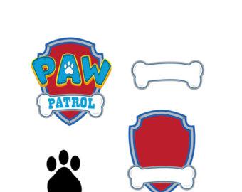 Dog paw patrol logo clipart free banner transparent Paw patrol clipart   Etsy banner transparent