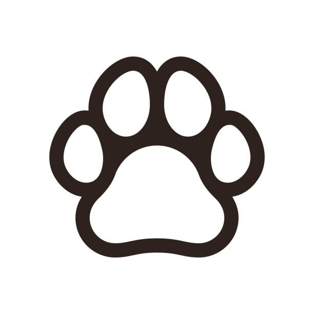 Dog paw print black and white clipart picture freeuse Dog Paw Prints Clip Art - thecattbox.com picture freeuse