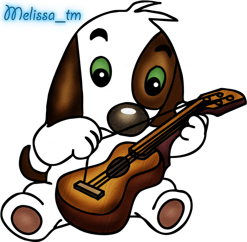 Dog play clipart free stock cute dog playing the guitar png by Melissa-tm on DeviantArt free stock