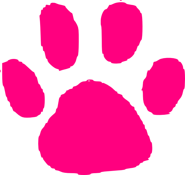 Dog print clipart picture royalty free Pink Paw Print Clip Art at Clker.com - vector clip art online ... picture royalty free