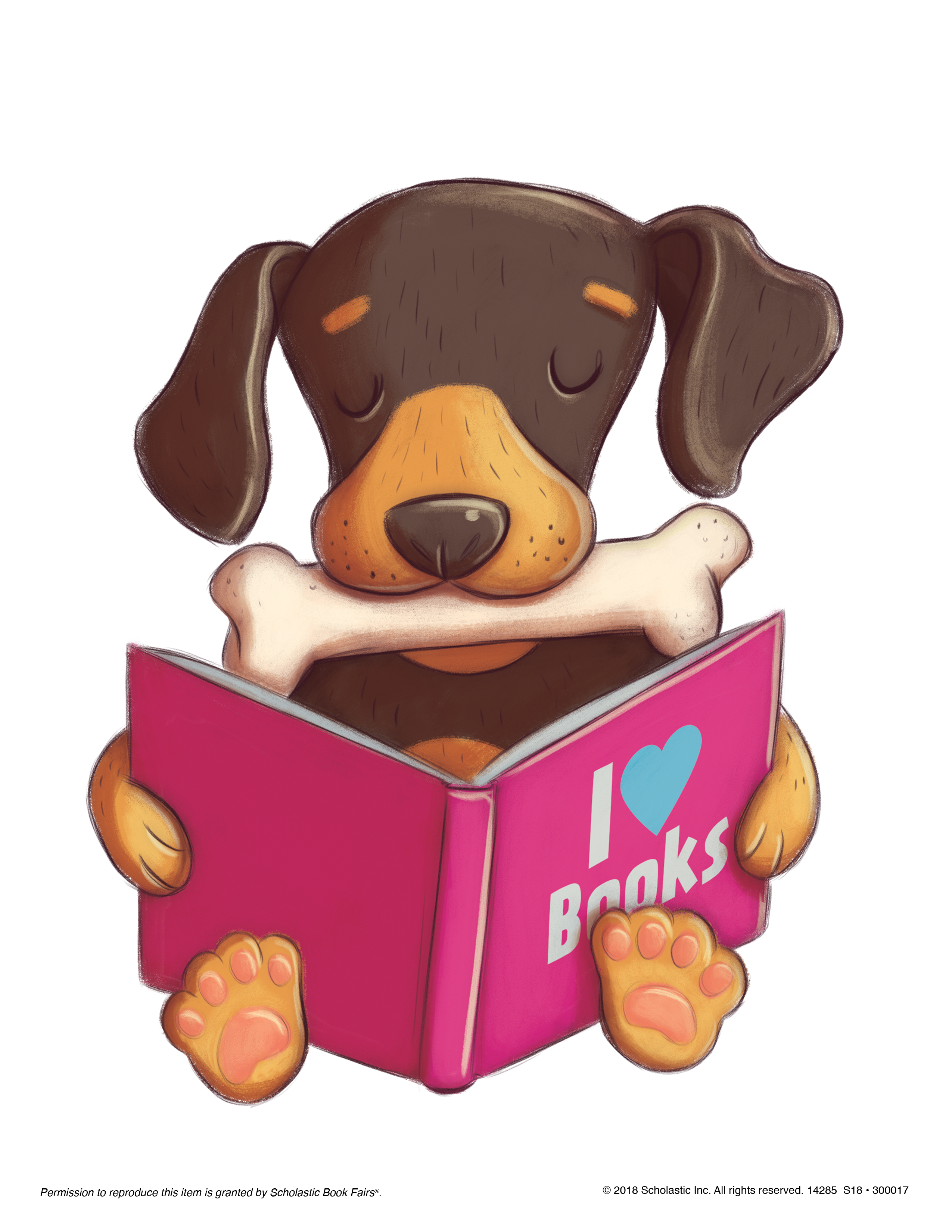 Dog reading clipart royalty free stock Book Fairs Downloads   Scholastic New Zealand royalty free stock