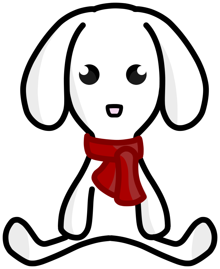 Plush clipground lop eared. Dog reindeer clipart
