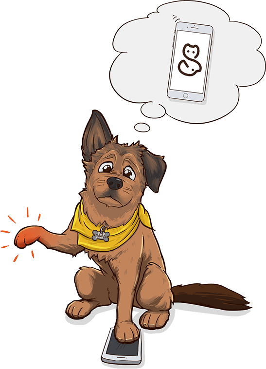 Dog scratching clipart image freeuse download Scratchpay - Simple, pet friendly payment plans. image freeuse download
