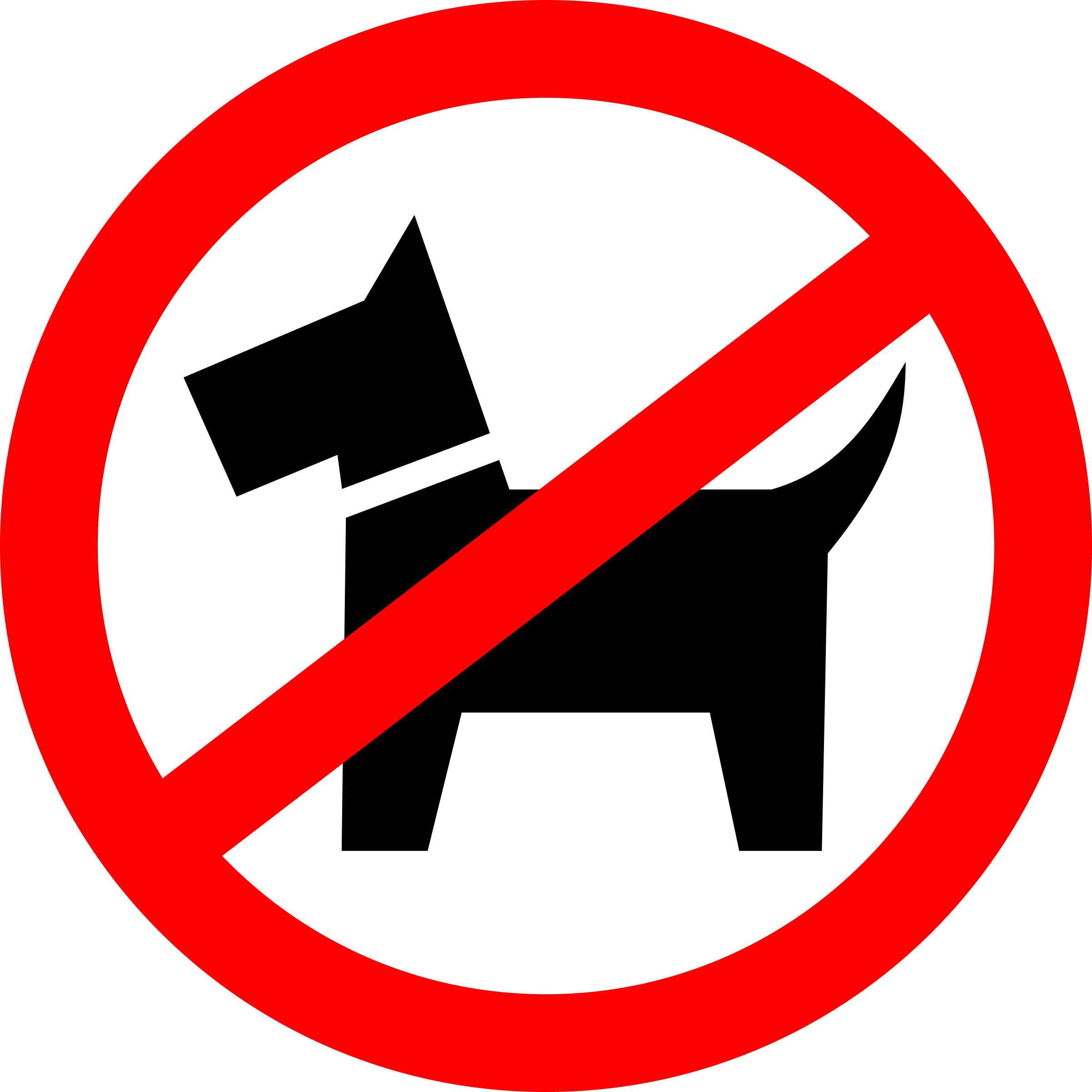 Dog signs clipart banner transparent Clipart - Dog walking is prohibited banner transparent
