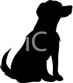 Dog silhouette clip art black and white png transparent library Dog Shadow Clipart - Clipart Kid png transparent library
