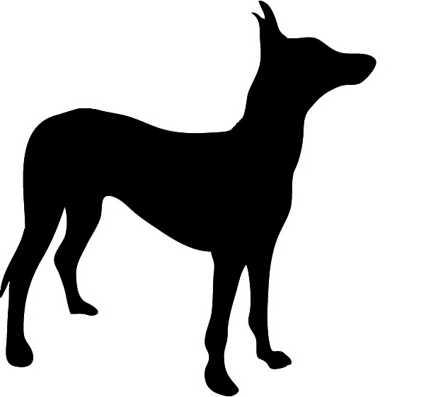 Dog silhouette clip art black and white picture freeuse Silhouette Clipart picture freeuse