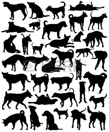 Dog silhouette clip art black and white clipart library stock 31,103 Dog Silhouette Stock Illustrations, Cliparts And Royalty ... clipart library stock