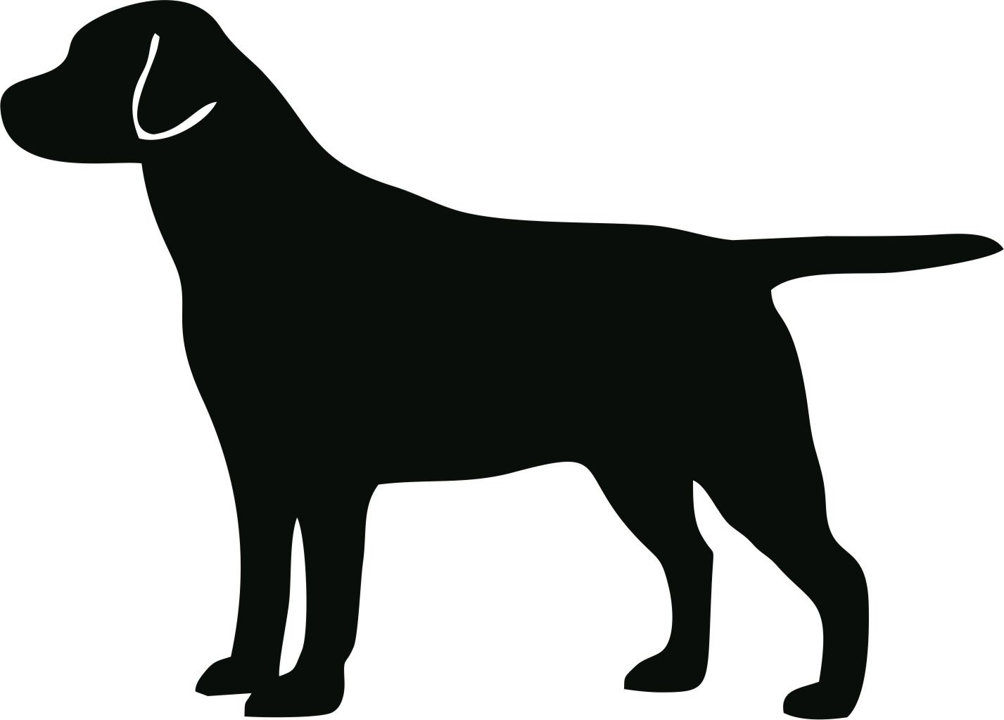Dog silhouette clip art black and white graphic freeuse stock Dog silhouette clip art black and white - ClipartFest graphic freeuse stock