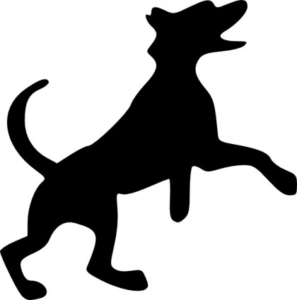 Dog silhouette clip art black and white jpg free Cat and dog silhouette clip art - ClipartFest jpg free