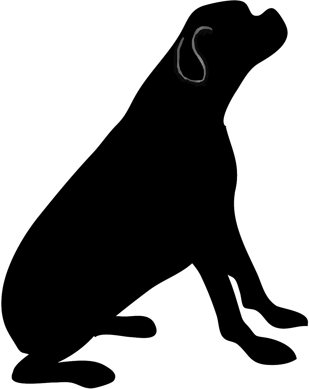 Dog silhouette clip art black and white graphic royalty free library Dog silhouette clip art black and white - ClipartFest graphic royalty free library