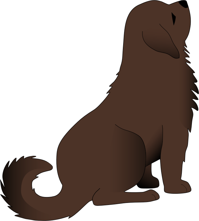 Dog sitting down clipart clip art royalty free stock Clipart - Brown dog clip art royalty free stock