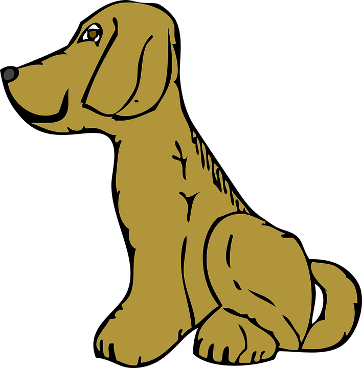 Dog sitting down clipart png black and white download Cartoon Dog Sitting Group (60+) png black and white download