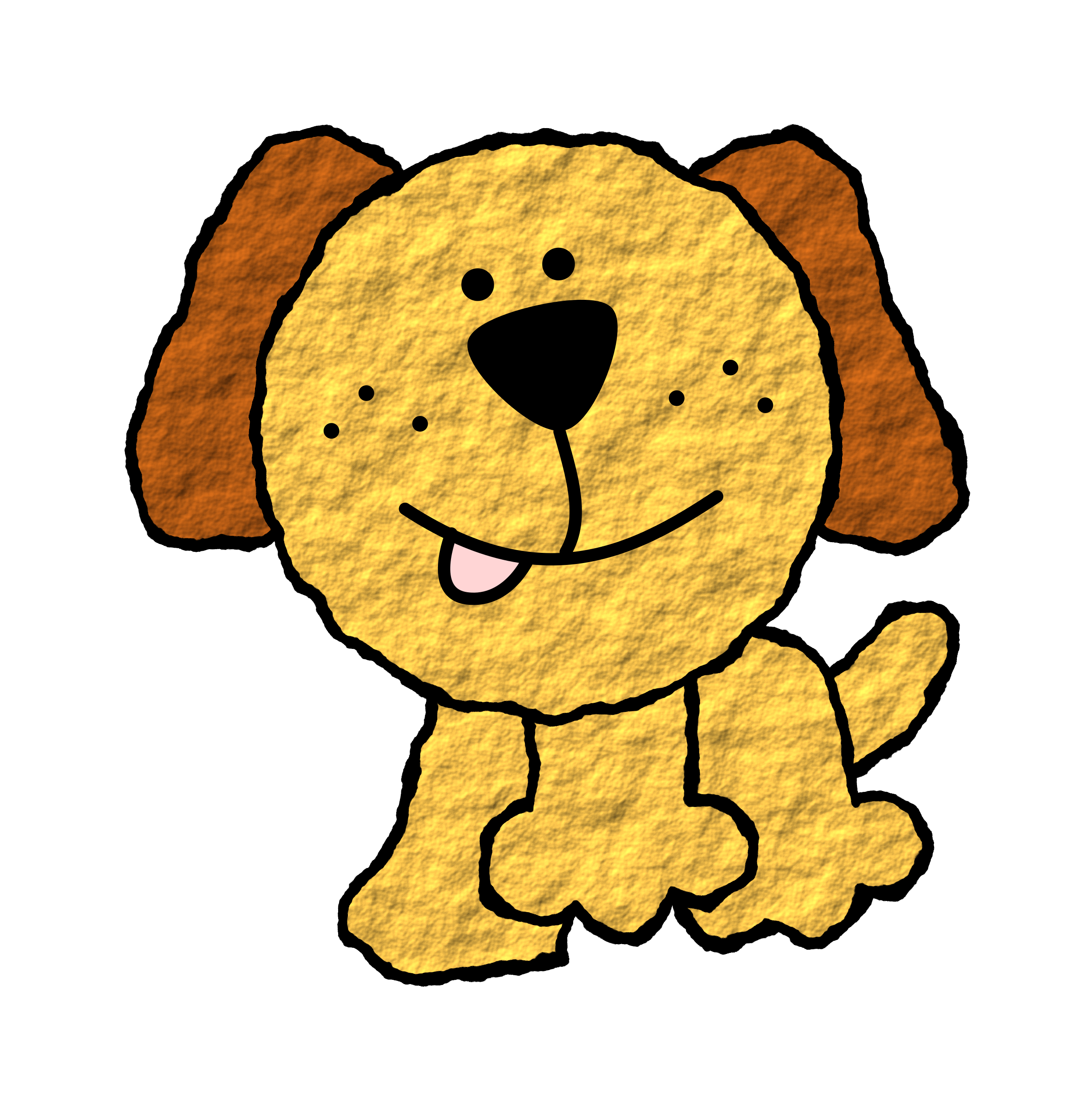 Smiling dog clipart picture stock Clipart - Doggie picture stock
