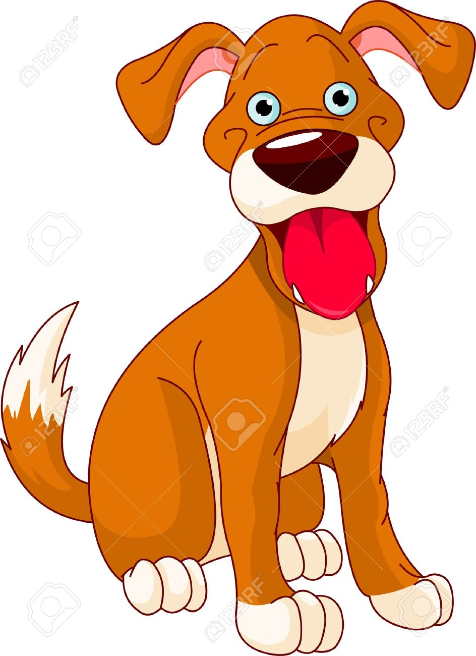 Dog smiling clipart with hearts svg free stock Smiling dog clipart - ClipartFest svg free stock
